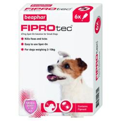 Beaphar Fiprotec Flea & Tick Spot On Treatment - Small Dog (2kg - 10kg)