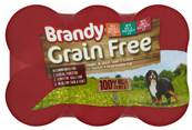 Brandy Grain Free Wet Dog Food Tins - Chunks in Gravy Variety Pack (6 X 395g)