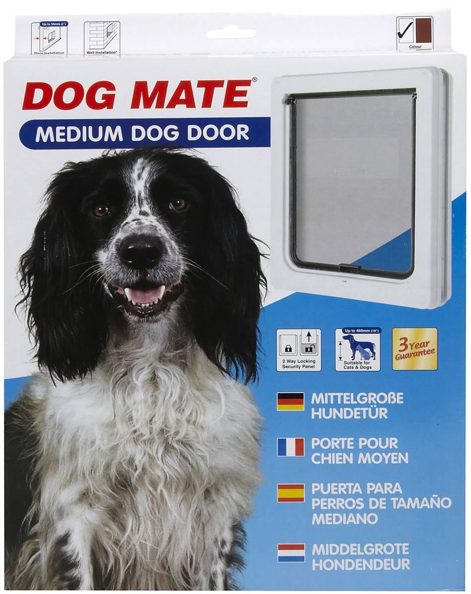 Dog Mates Dog Door Medium White