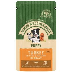 James Wellbeloved Gluten Free Wet Dog Food For Puppy - Turkey 150g