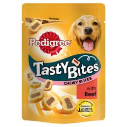 Pedigree Tasty Bites Chewy Slices With Beef (155g)