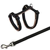 Trixie Cat Harness With Lead Nylon 27-44cm/10mm, 1.20m