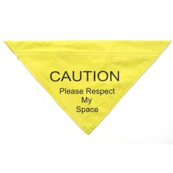Ancol 'Caution - Please Respect My Space' Nervous Dog Bandana