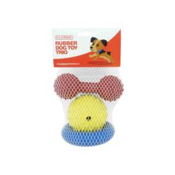 Classic Rubber Toy Trio Pack (3 Pack)