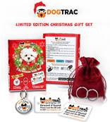 DogTrac Christmas Edition Gift Set Includes 1 X Dog Tag & 2 'Smart' Key Recovery Tags Medium