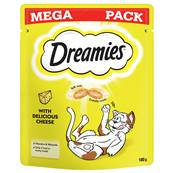 Dreamies Cat Treats Mega Pack - Cheese 180g