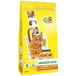 Go Cat Complete Dry Food Indoor with Chicken & added Garden Greens 2kg