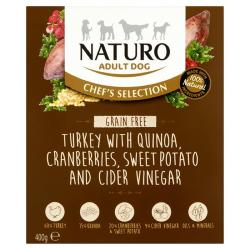 Naturo Wet Dog Food (Adult) - Chef Selection Grain Free Turkey 400g