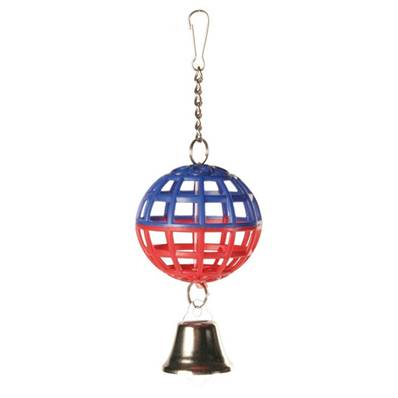 Trixie Lattice Ball With Chain And Bell, 7 Cm