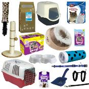 Luxury Kitten Starter Pack - Contains Carrier, Food, Bed, Litter Tray, Toys & More