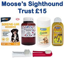 MOOSE'S SIGHTHOUND TRUST DONATION - Christmas Shoebox