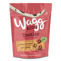 Wagg Tasties Chicken, Ham & Beef Tasty Chunks (150g)
