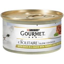 Gourmet Solitaire Cat Food - Duck in Sauce wtih Tomato and Spinach - 85g