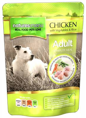 Natures Menu Wet Dog Food (Adult) - Chicken with Veg 300g