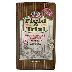 Skinners Field and Trial Working 23 Dog Food - Beef 15kg