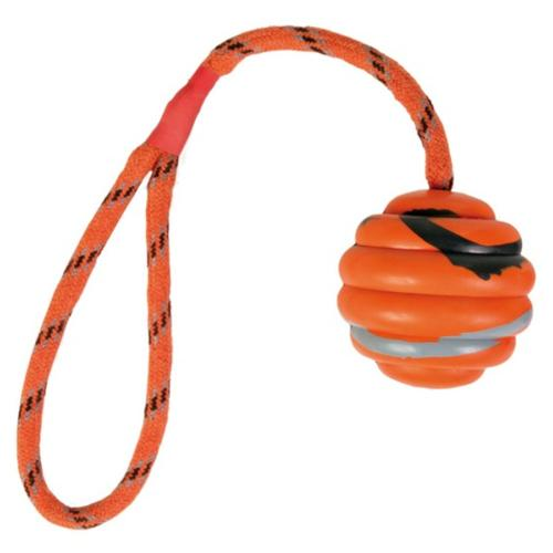 Wavy Natural Rubber Ball On Rope