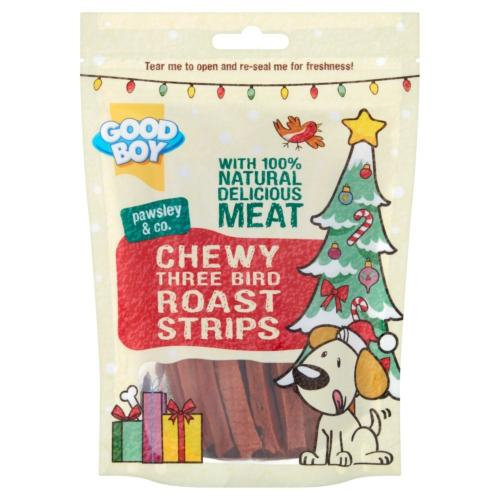 Goodboy Chewy Three Bird Roast Dog Treats - 70g