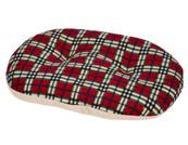 Gor Pets Argyll Oval Cushion Red Check 53cm