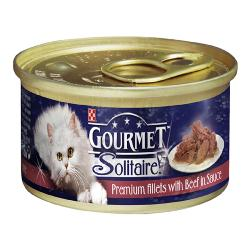 Gourmet Solitaire Cans 85g Slow Cooked Beef in Tomato Sauce Singles