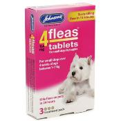 Johnsons 4Fleas Flea Removal Tablets for Small Dogs and Puppies (1 - 11kg) - 3 Treatments