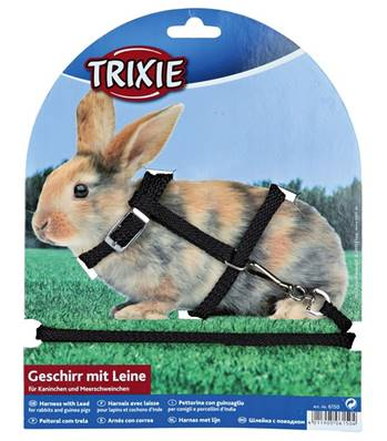 Trixie Rabbit Harness With Lead Nylon 25-44cm/8mm, 1.30m