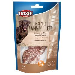 Trixie Premio Marbled Lamb Bullets Rawhide Dog Chew