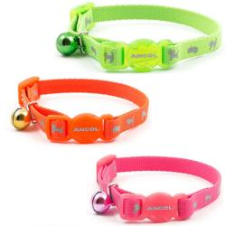Ancol Reflective Hi Vis Kitten Safety Collar with Bell