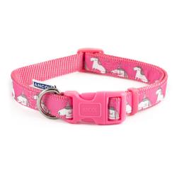 Ancol Indulgence Adjustable Nylon Unicorn Dog Collar - Pink