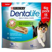 Dentalife Dog Dental Chew Treats - Medium, 15 Sticks