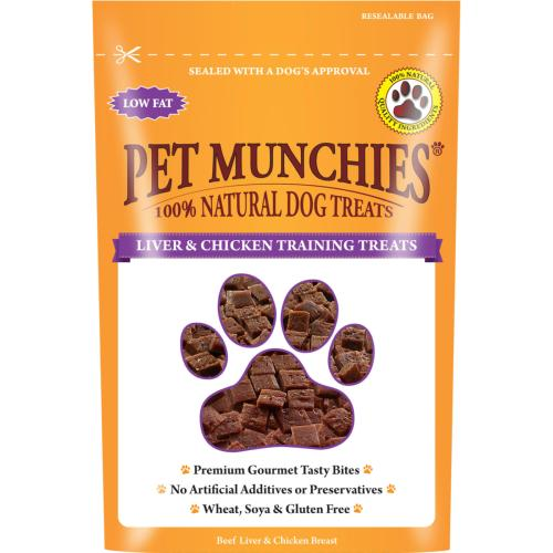 MANCHESTER & CHESHIRE DOGS HOME DONATION - Pet Munchies Dog Treats - Liver & Chicken Treats 50g