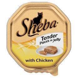 Sheba Cat Tray 85g Tender Pieces / Chicken in Jelly