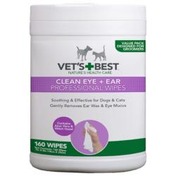 Vet's Best Clean Eye & Ear Wipes for Dogs & Cats - 160 Pack