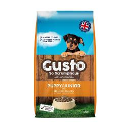 Gusto Dog Food for Puppy - Rich in Poultry 12kg