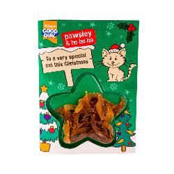 Cat Meaty Treats Christmas Card