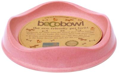 Becobowl Eco-Friendly Biodegradable Pet Bowl For Cats, Pink 0.25 Litre