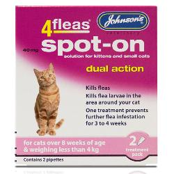 Johnson's 4Fleas Dual Action Flea & Lice Cat Spot On Treatment