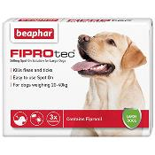 Beaphar Fiprotec Spot On Flea Removal and Prevention for Large Dogs (20 - 40kg) - 3 Treatments