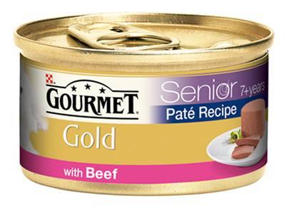 Gourmet Gold Cans 85g Senior Pate with Beef