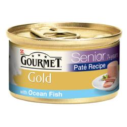 Gourmet Gold Cans 85g Senior Pate with Ocean Fish