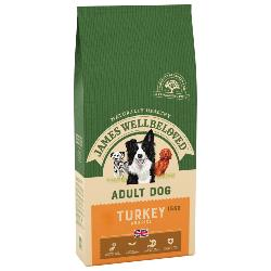 James Wellbeloved Gluten Free Dog Food (Adult) - Turkey and Rice 15kg