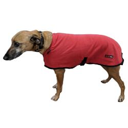 LURCHER SOS DONATION - HOTTERdog By Equafleece Dog Coat - Red - 20""