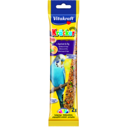 Vitakraft Kracker Budgie Treat Sticks (2 Pack) - Apricot & Fig