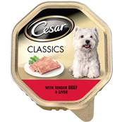 Cesar Classics Wet Dog Food - Beef and Liver 150g