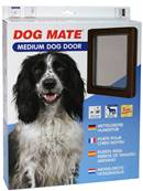 Dog Mates Dog Door- Medium / Brown