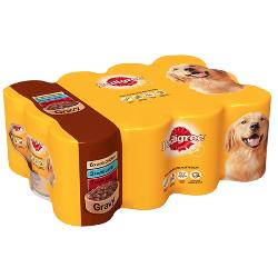 Pedigree Wet Dog Food Tins (Adult) - Mixed Chunks In Gravy (12 X 400g)