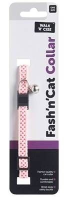 Dotted Cat Collar Pink 10mm X 30cm