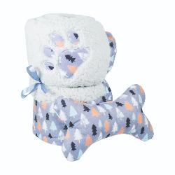 Rosewood Cupid & Comet Winter Forest Dog Blanket And Toy