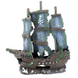 Cheeko Dreamscape Pirate Galleon Sunken Ship Aquatic Ornament