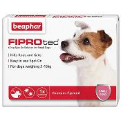 Beaphar Fiprotec Spot On Flea Removal and Prevention for Small Dogs (2 - 10kg) - 1 Treatment