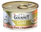 Gourmet Gold Cans 85g Trout & Vegetables Chunks in Gravy